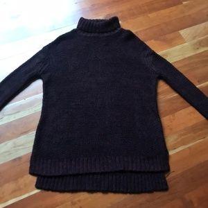 Zara Chunky Oversized Knit Turtleneck Sweater